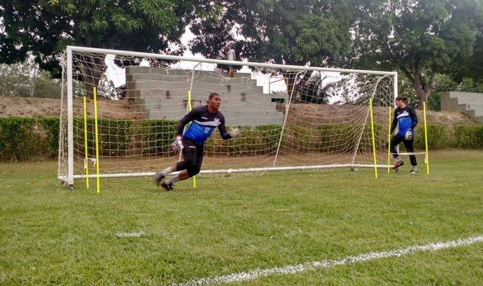 Walter e Alan Faria disputam a posição de titular no gol do Espírito Santo (Foto: João Brito/Espírito Santo FC)