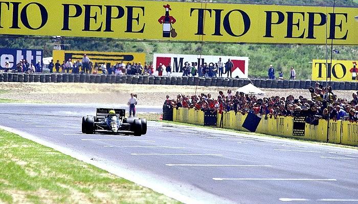 Ayrton Senna Nigel Mansell GP da Espanha de 1986 Jerez de la Frontera