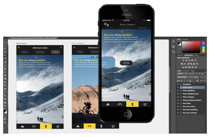 Faça o preview do seu layout diretamente no Device (Foto: Divulgação/Adobe)