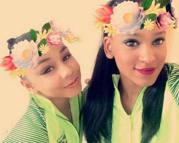Flávia Saraive e Rebeca Andrade, ginastas brasileiras (Foto: Reprodução/Instagram)