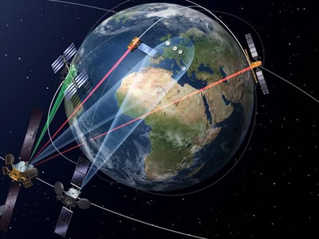 SpaceDataHighway, programa de conectividade espacial, transmite internet via raio laser a velocidades que chegam a 1,8 Gbps. (Foto: Divulgação/Airbus Defence and Space)