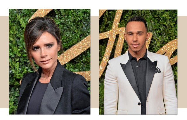 Victoria Beckham e Lewis Hamilton (Foto: Getty/ Anthony Harvey / Stringer / Anthony Harvey / Stringer)