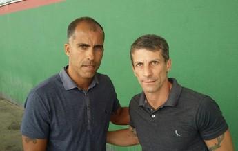 Comandantes do Tigres-RJ, Pedrinho  e Felipe assistem à final da Copa Rio