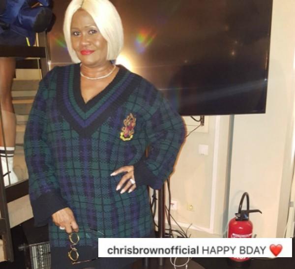 Publicação de Monica Braithwaite e a mensagem de Chris Brown (Foto: Reprodução Instagram)