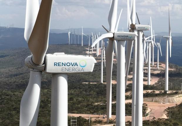 Turbinas de geração de energia eólica da Renova Energia (Foto: Divulgação)