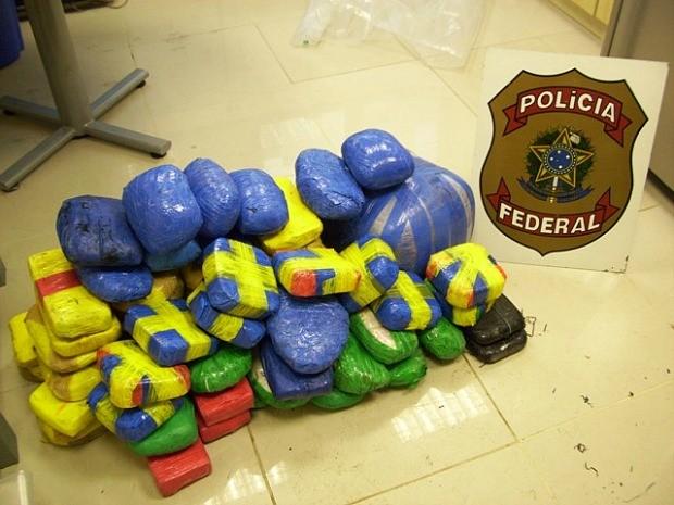 Cocaína foi encontrada no município de Iranduba (Foto: Divulgação/Polícia Federal)