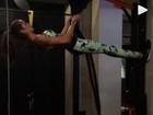 Izabel Goulart malha e mostro corpo fininho: 'Foco, motivação e dedicação'