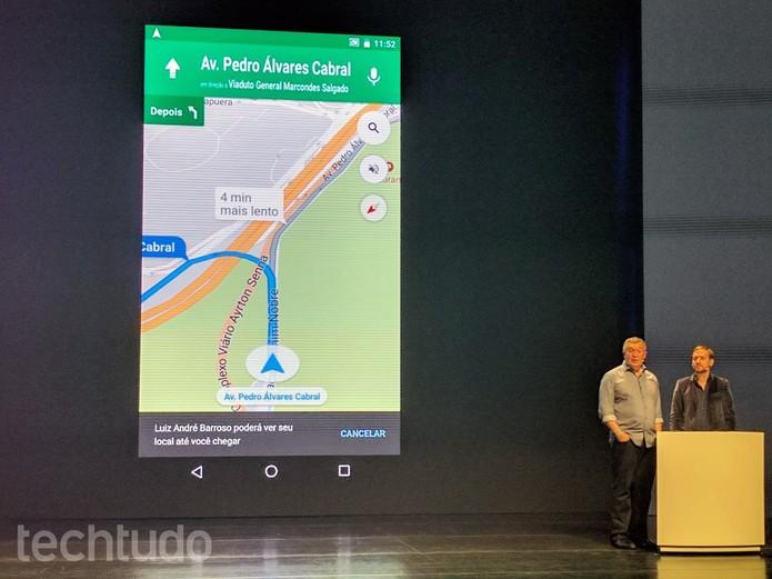 Google Maps ganha compartilhamento de local em tempo real pelo smartphone (Foto: Melissa Cruz/TechTudo)