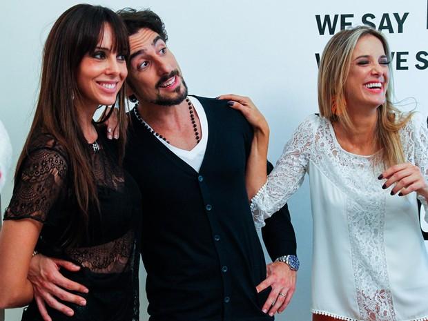 Suzana Gullo, Marcos Mion e Ticiane Pinheiro em evento em São Paulo (Foto: Manuela Scarpa/ Foto Rio News)