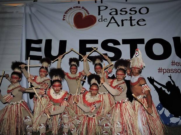 Grupo de Parnaíba foi o único do Nordeste a competir da categoria danças populares (Foto: Rosy Theófilo/Arquivo Pessoal)