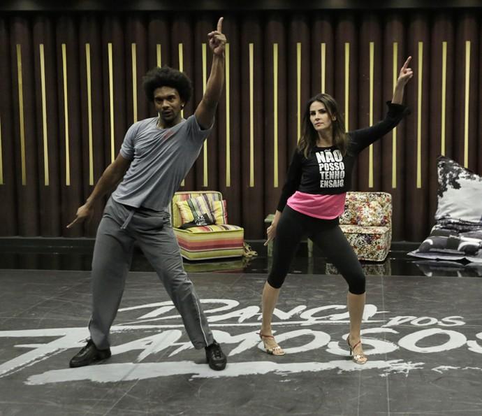 A dança dessa dupla promete muito no 'Domingão'! (Foto: Artur Meninea / Gshow)