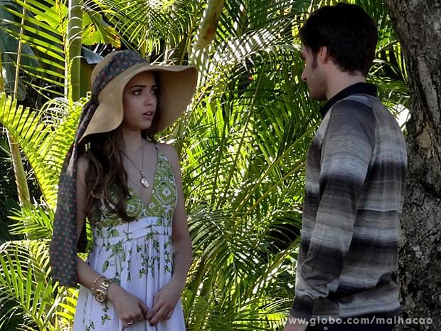 Flaviana fica mal com esculacho de Martin (Foto: Malhação / TV Globo)