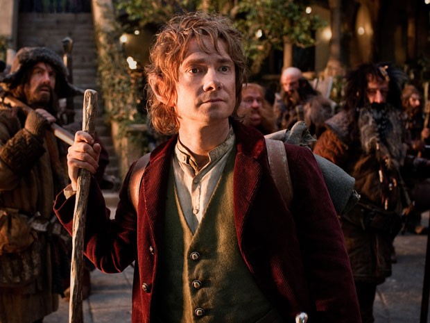 O ator Martin Freeman na pele Bilbo Bolseiro, em 'O hobbit: uma jornada inesperada', de Peter Jackson (Foto: Divulga&#231;&#227;o)