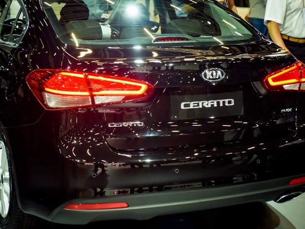 Cerato é apresentado no estande da Kia no Salão do Automóvel de São Paulo 2016 (Foto: Flavio Moraes/G1)