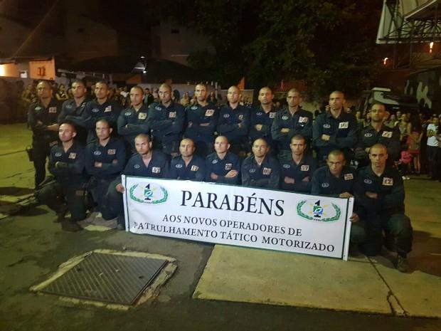 Batalhão de Choque de MS forma patrulheiros após 30 dias de curso (Foto: Divulgação/ Batalhão de Choque da Polícia Militar)