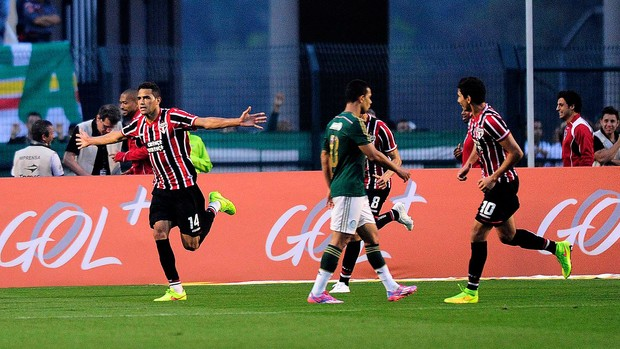 Alan Kardec São Paulo gol Palmeiras  (Foto: Marcos Ribolli)