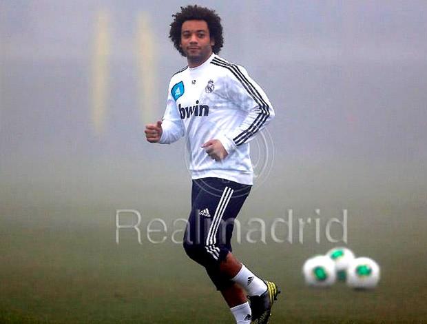 Marcelo no treino do Real Madrid (Foto: Divulgação / Site Oficial do Real Madrid)