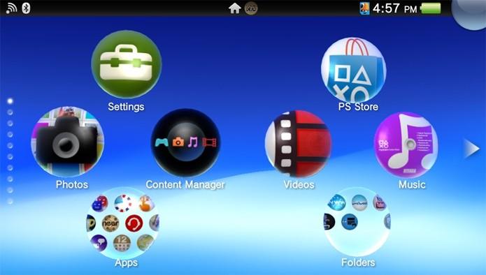 Passo 1 - Selecione o ícone do Content Manager no PS Vita (Foto: Reprodução)