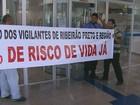 Vigilantes fazem nova paralisação em Ribeirão por pagamento de benefício