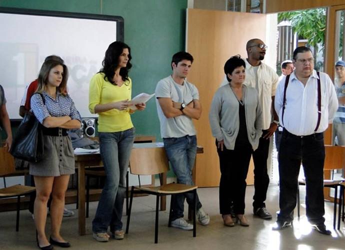 Daniela Carvalho, com 10 Kg a mais, na época de Malhação (Foto: Malhação / Gshow)