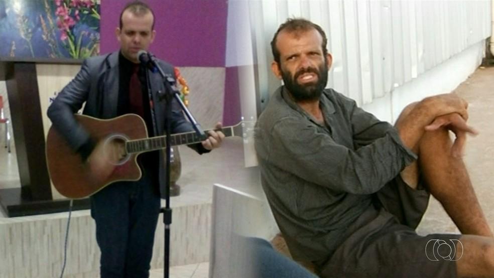 Ex-pastor mora nas ruas de Araguaína há mais de um ano (Foto: Reprodução/TV Anhanguera)
