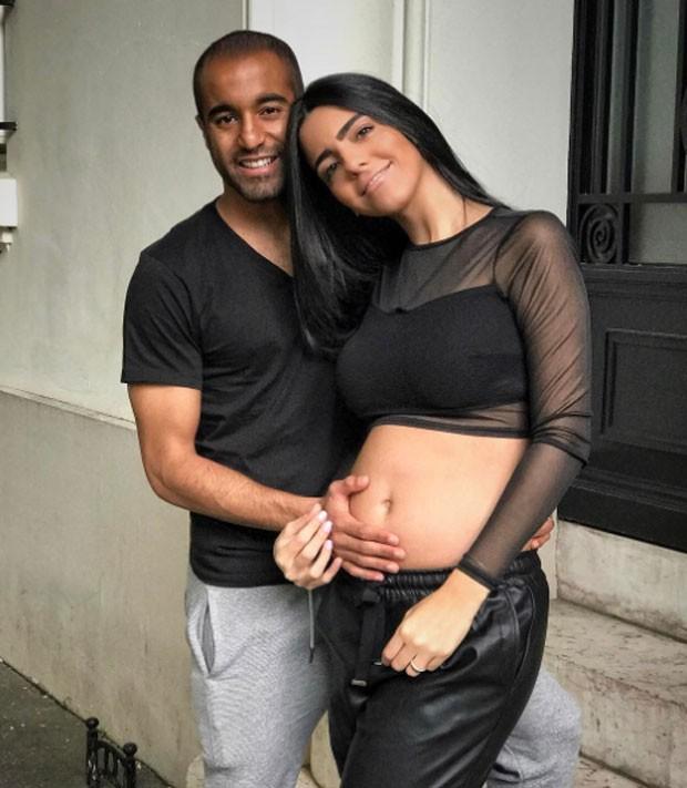 Lucas Moura e Larissa Saad (Foto: Reprodução)
