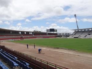 Estádio Rei Pelé, em Maceió (Foto: Leonardo Freire/GloboEsporte.com)