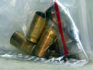 Munição encontrada em uma dos homicídios registrados em Campinas (Foto: Reprodução / EPTV)