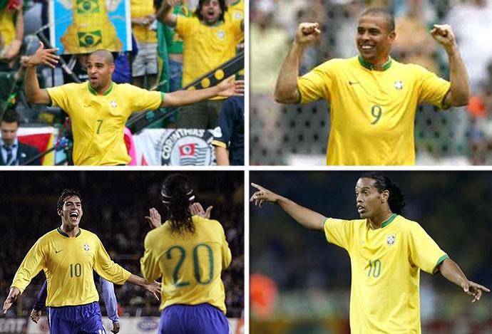 Montagem quarteto Brasil 2006 (Foto: Editoria de Arte)