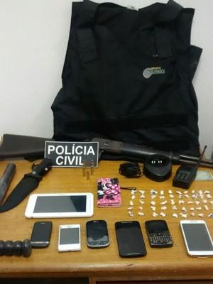 Material apreendido na operação da Polícia Civil (Foto: Polícia Civil/Divulgação)