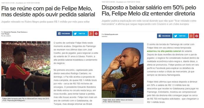 Felipe Melo no Flamengo prints (Foto: Reprodução)