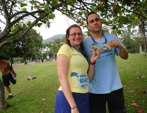 Roberta Fabbri e Roberto Fabbri - Corrida 10K Rio 2011 (Foto: Arquivo Pessoal)