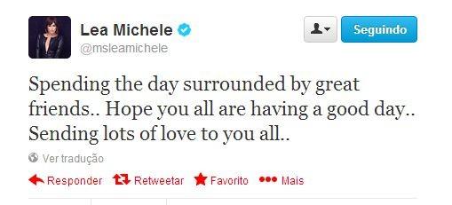 Lea Michele  (Foto: Reprodução / Twitter)