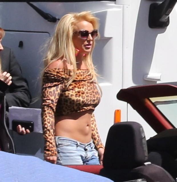 X17 - Britney Spears em gravação de clipe na Califórnia, nos Estados Unidos (Foto: X17online/ Agência)