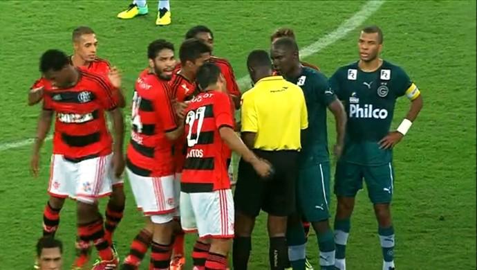 Expulsão de Hugo - Goiás x Flamengo (Foto: Reprodução / PFC)