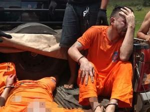 Detentos retornavam de uma audiência na cidade de Carutapera e seguiam para Pinheiro (Foto: Divulgação/PRF)