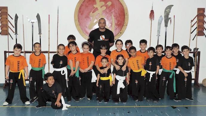 Kung Fu Baby Uberaba projeto crianças artes marciais (Foto: Wilker Rodrigues/ Arquivo Pessoal)