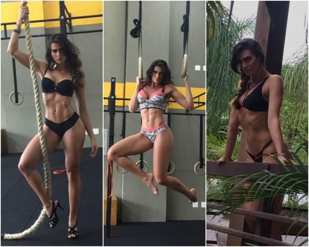 Renata Molinaro posa para sua linha de lingerie (Foto: Divulgação)