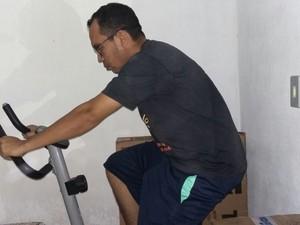 Prátrica de exercícios na bicicleta foi a responsável pela redução  (Foto: Arquivo Pessoal)