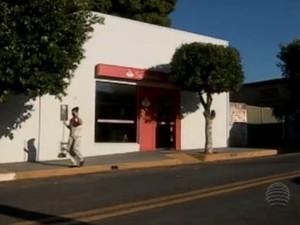 Agência bancária é a única da cidade (Foto: Reprodução/Tv Fronteira)