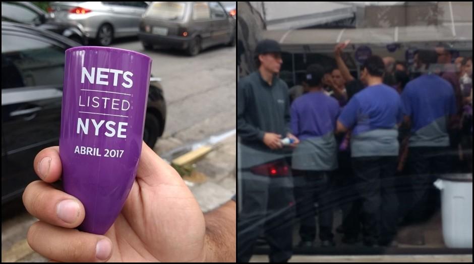 Funcionários celebram IPO da Netshoes (Foto: Divulgação)