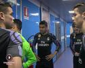 """TV flagra CR7 no intervalo de duelo contra o Napoli: """"Não sabemos nos defender"""""""