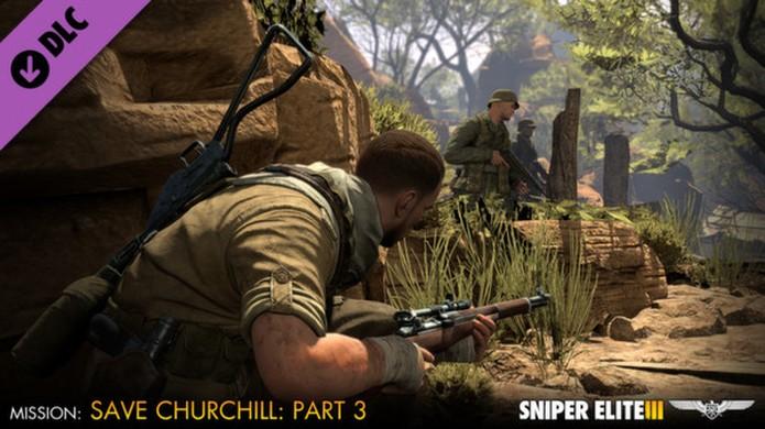 Sniper Elite 3: Ultimate Edition trará todos os DLCs lançados, incluindo a campanha Save Churchil (Foto: Divulgação)