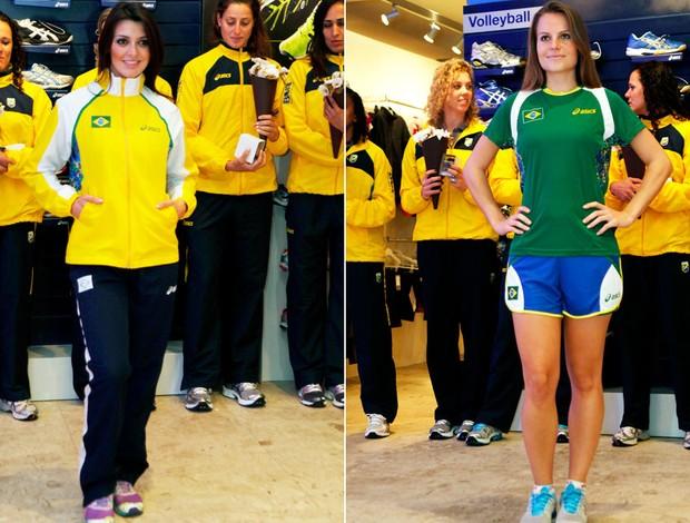 Montagem Uniforme seleção feminia Handbol (Foto  Editoria de Arte    Globoesporte.com) 185d48aaf0482