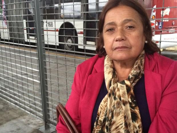 Dona de casa tinha ido ao centro para uma consulta médica (Foto: Tatiana Santiago/G1)