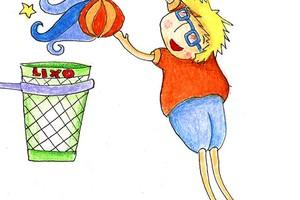 brincadeiras_basquete com balde (Foto: Crescer)