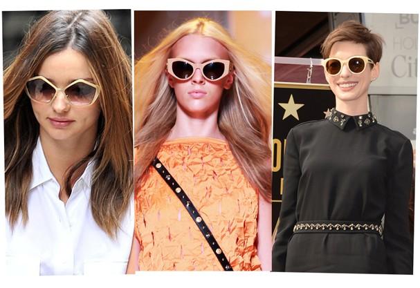 Miranda Kerr e Anne Hathaway são adeptas do nude, tendência desfilada pela Versace em seu Verão 2013 (Foto: Getty Images)