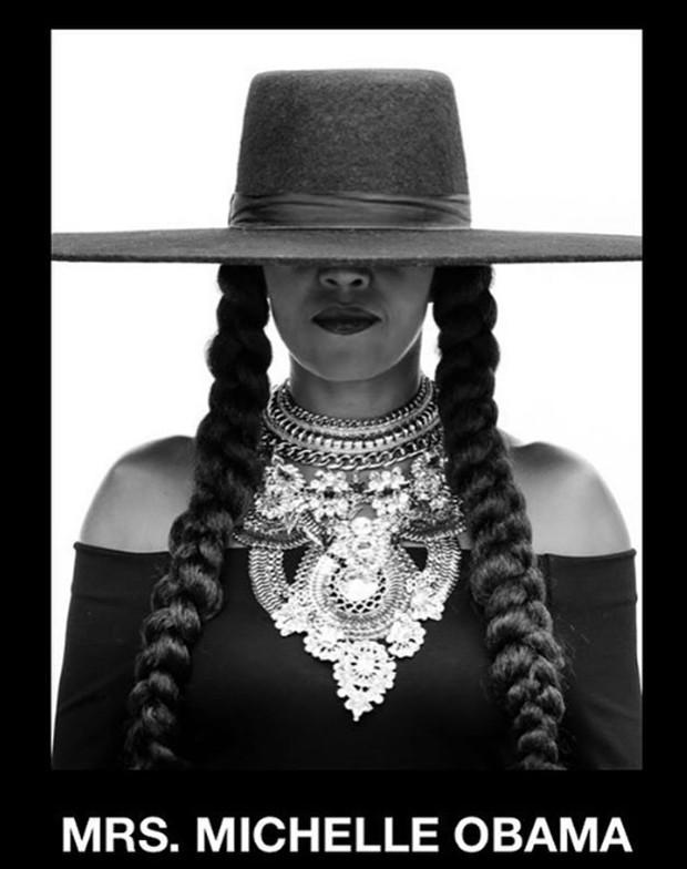 Michelle Obama presta homenagem a Beyoncé (Foto: Reprodução / Instagram)