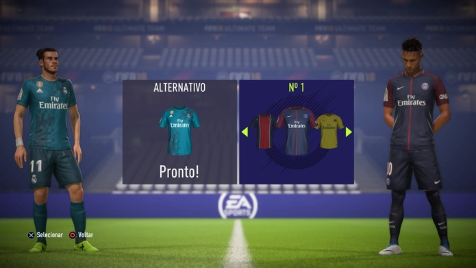 Aparência de jogadores e uniformes receberam melhorias em FIFA 18 (Foto: Reprodução / TechTudo)