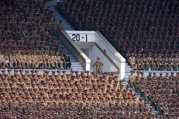 Estado militar O exército do país é o sexto mais numeroso do mundo, com 1,1 milhão de soldados (Foto: AFP)